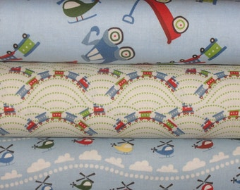 Scoot Fabrics by Deena Rutter for Riley Blake Fabrics, Full Yard Bundle, 3 Yards Total
