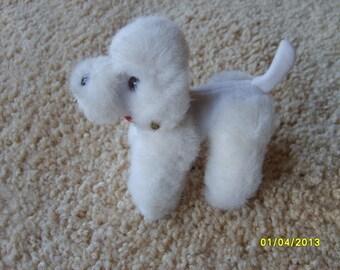Vintage Steiff Poodle Mini White Poodle, Vintage Steiff, Stuffed Toy, Dog Toy