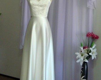 SAMPLE SALE. Marielle - Retro Glam Bridal Gown. Vintage Inspired Wedding Dress.