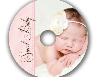 INSTANT DOWNLOAD -  Cd/DVD Label Photoshop template - 0518
