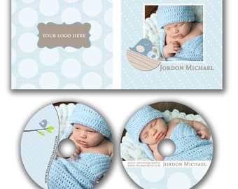 INSTANT DOWNLOAD -  Dvd Label and Dvd Case Photoshop template - W0501