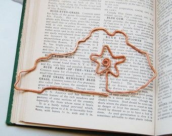 Kentucky, Lexington copper bookmark or ornament in salvaged copper hand formed hand hammered