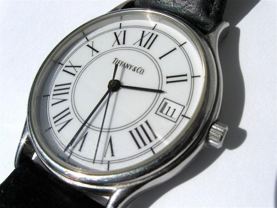 Vintage Tiffany Amp Co Mens Watch Silver Bezel By