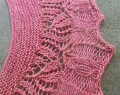Pattern Only Memento Crescent Shaped Lace Shawlette or Scarf