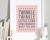 Twinkle Twinkle Little Star - CUSTOM COLOR - 8x10 Nursery Art Print