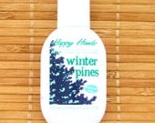 Winter Pines Scented Hand Cream for Knitters - Refillable 1oz Tottle HAPPY HANDS Shea Butter Hand Lotion