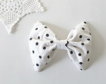 Polka Dot Hair Bow, For Women Teens Girls