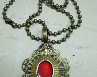 Vintage Beautiful Unique Hand Made Filigree Vintage Button Necklace
