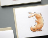 Bunny Sumersault  - Set of 6 Notecards
