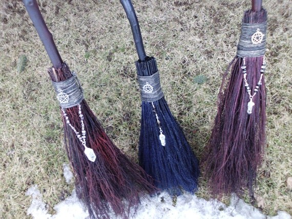 handfasting brooms in assorted colors and styles wiccan wedding broom