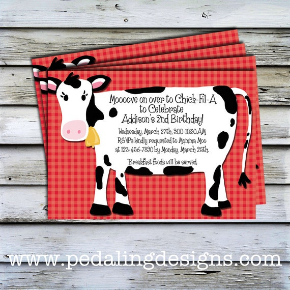 Printable Invitations Red Cow Birthday Invitation – Cow Birthday Invitations
