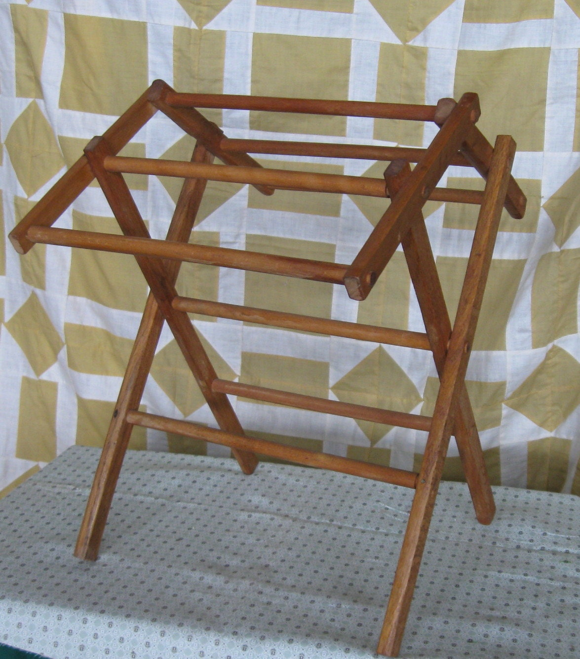 Vintage Antique Child S Toy Wooden Clothes Drying Rack