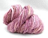 Raspberry Chocolate - 50 yards Thick and Thin Handspun yarn