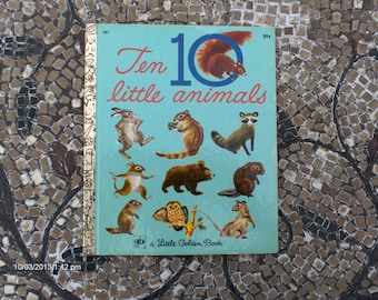 Treasury Item - Ten Little Animals 451 - a Little Golden Book by Carl Memling and Feodor Rojankovsky  - 1971