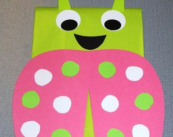 Ladybug Birthday Party Favor Treat Sacks Goody Bags by jettabees on Etsy
