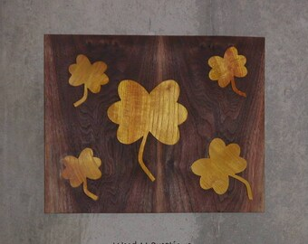 Wall Hanging Wood Wall Art with Yellow Flowers