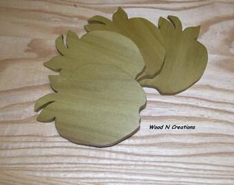 Coasters Home Decor Bar Accessory  Set of 4 Apple Shape Coasters