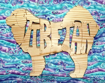 Tibetan Mastiff Handmade Wood Fretwork Jigsaw Puzzle