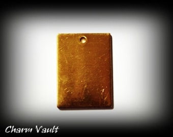 SALE 3 Blanks Pendants Raw Brass Charms and Brass Jewelry Findings (138)