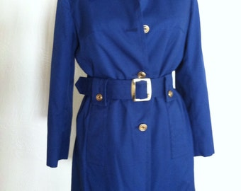 Royal Blue Lined Vintage LONDON FOG Skipper Jacket - 10