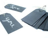 Chalkboard Tags - Black Authentic Chalk Board Gift Tags - Handmade