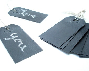 Chalkboard Tags - Reusable Blank Chalk Board Gift Tags - Labels - Table Numbers - Gift Baskets