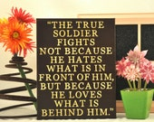 True Soldier - Expressive Art on Canvas wall decor for Dorm, kitchen, Kids room, family room wall art