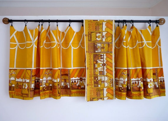 Fabulous 1970s Cafe Curtains