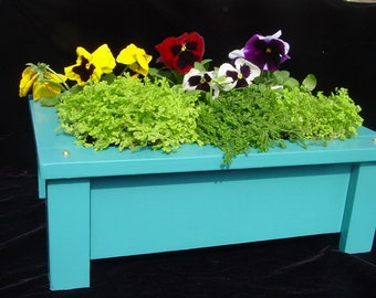 Painted Redwood Planter Box for Outdoors or Indoors
