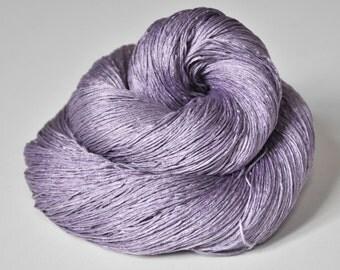 Dyeing lavender - Silk Lace Yarn