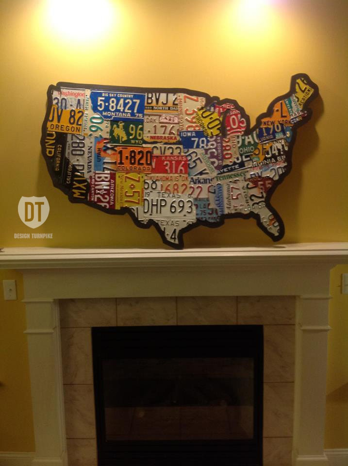 License Plate Map Of The United States X USA - Us map license plate puzzle