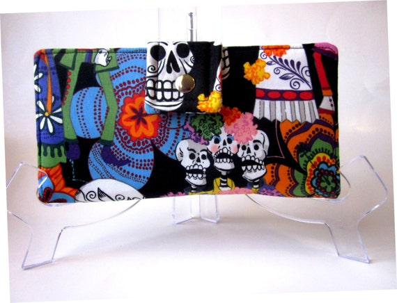 Handmade women wallet Los Novios Day of the dead Ready to ship