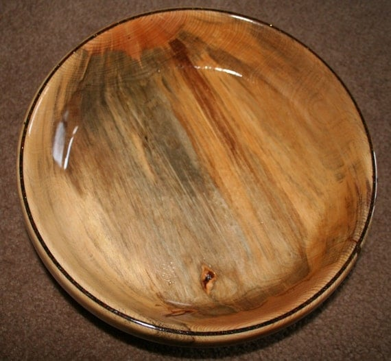 Decorative bowl centerpiece beetle kill pine by creationsbypaul