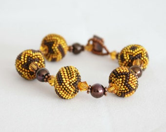 Brown and Topaz Bracelet