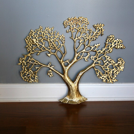 Brass Tree Of Life Wall Hanging Family Tree Branches Spring
