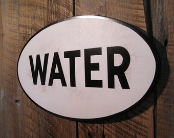 Water - Wooden Sign