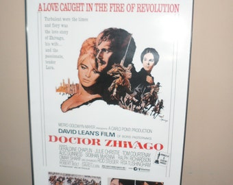 doctor zhivago framed movie print or poster  all ready to hang or unframed can get prtoper ship quoteunframed or framed