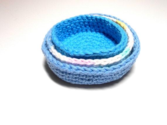 Mini Nesting Bowls or Basket Set of 3