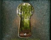 Alice in Wonderland, Photo, Art, Wall decor, Fine Art Photograph, Vintage, Key Hole, Forrest, Surreal, Whimsical, Photo, Print, Children,