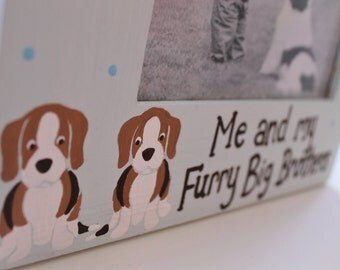 Picture Frame for Kids- Handpainted- FURRY BROTHERS Theme