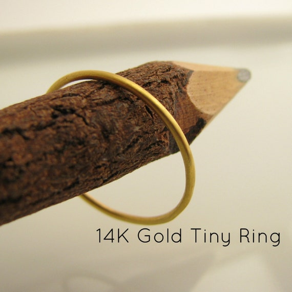 14K Solid Gold Ring - stackable 0.9mm Wedding Band - For Wedding Anniversary Promise - Ready to ship