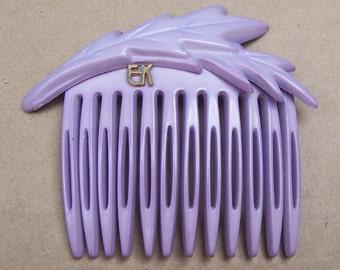 Vintage hair comb designer Emmanuelle Khanh signed hair accessory hair barrette hair pin hair pick hair jewelry hair ornament (AAF)
