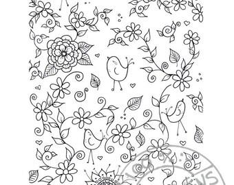 Digital coloring page 3