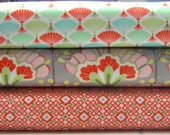 Bundle of 3 Prints in Orange and Gray from the Good Fortune Collection, by Moda, 1/2 yard each