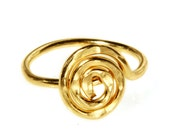 Unique gold filled ring hammered jewelry Made by hand in Israel All sizes