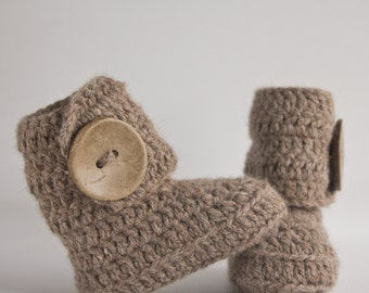 Rosey Grey Crochet Wrap Boots- Choose Your Size