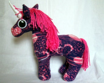 Customizable Unicorn Plush - choose your own colors and patterns