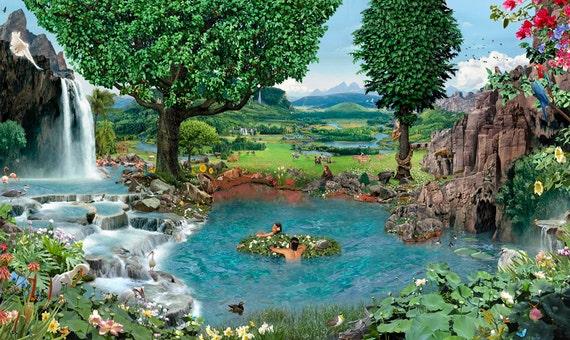 Items Similar To Garden Of Eden Signed Fine Art Print