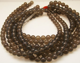 1strand - natural gray agate plain ball 10mm