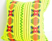 Tribal Pillows Covers, Colorful Pillow Covers, Bohemian Decor, Boho Bedding, Yellow Pillow Cover 18x18.